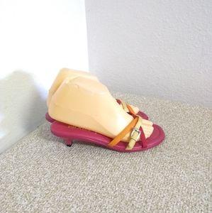 Prada Fuchsia Fabric Sandals